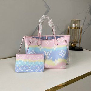 Louis Vuitton Escale Neverfull Mm Tote Bag Pink